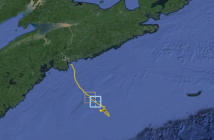 OTN200 trajectory during July as Hurricane Arthur approaches the Maritimes. View glider data at gliders.oceantrack.org